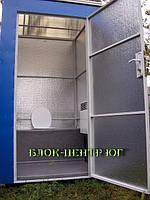 Мобильный уличный  биотуалет утепленный  с конвектором