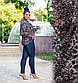 """Женский короткий кардиган в больших размерах """"Ангора Пушистик Лео Карманы"""" в расцветках, фото 3"""