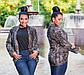"""Женский короткий кардиган в больших размерах """"Ангора Пушистик Лео Карманы"""" в расцветках, фото 2"""