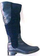 Сапоги кожаные синие, фото 1