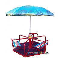Карусель шестиместная с зонтиком 604/кр