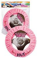 Мягкий чехол на руль в машине Sexy Wheels Steering Wheel Cover Pink (T160343)