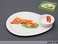 """Блюдо с соусником """"деликатес"""", 25х19х4 см, в кор. 18 шт."""