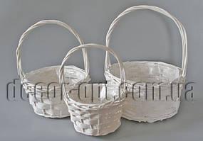 Набор белых корзин из 3-х шт JS17A-016