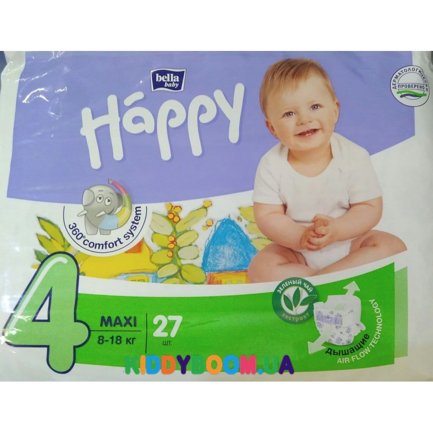 02dafff9fc05 Подгузники Bella Happy Baby Green Tea Maxi 4 (8-18 кг) 27 шт., цена ...