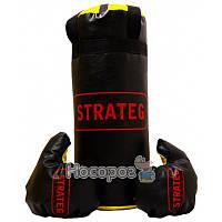 """Боксерський набір Strateg """"Elite sport"""" середній (висота 46см, діаметр 18 см)"""