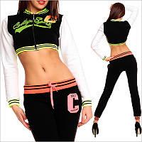 Короткая спортивная кофта для девушек