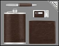 Подарочный набор Moongrass Фляга, ручка, зажигалка, портмоне 55-2