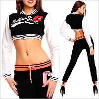 Теплая короткая спортивная кофта для девушек