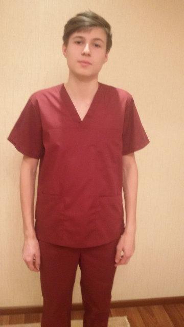 Хирургический мужской медицинский костюм Х/Б