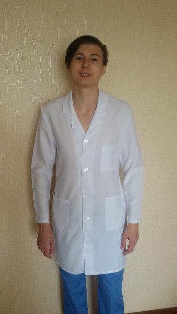 Медицинский мужской  халат габардиновый для студентов