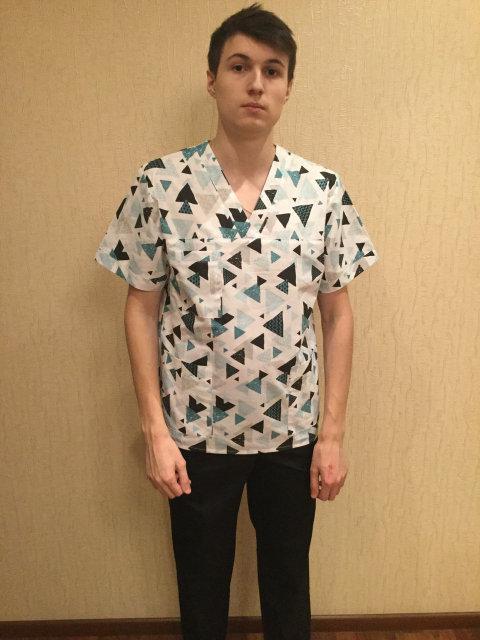 Хирургический мужской медицинский костюм
