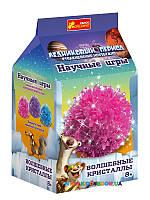 """Набор для опытов """"Волшебные кристаллы. Ледниковый период. Розовый"""" Ranok Creative 12177006Р"""
