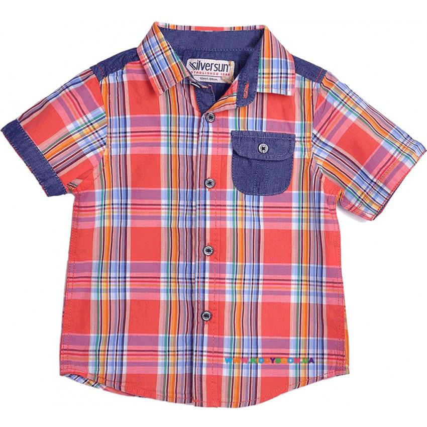 Рубашка для мальчика р-р 68-86 Silver Sun GC 63067