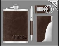 Подарочный набор Moongrass Фляга, ручка, брелок, визитница 55-6