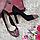 Туфли женские весна-осень на высоком каблуке натуральная замша черные, фото 4