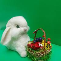 Игрушка кролик из натуральной шерсти, фото 1