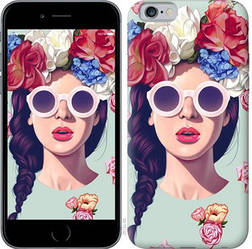 "Чехол на iPhone 6s Девушка с цветами ""2812c-90-328"""