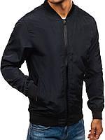Куртка мужская осенняя / ветровка / бомбер черный