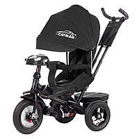 Велосипед-коляска с поворотным сиденьем, надувные колеса TILLY CAYMAN T-381 черный ткань лен  с пультом