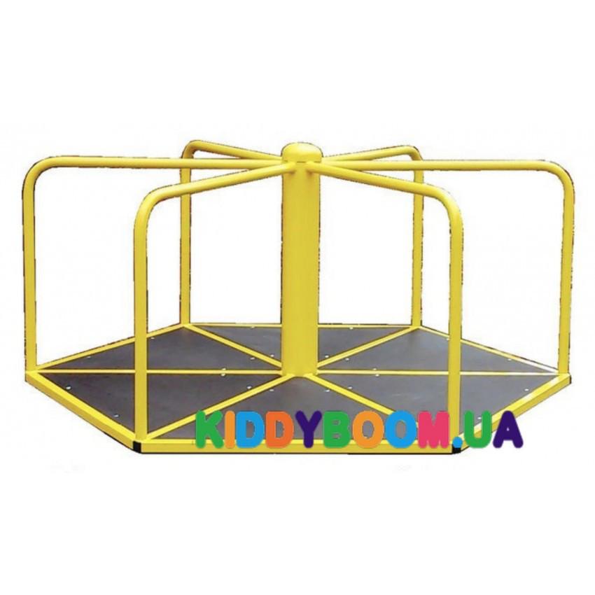 Шестиугольная детская карусель для катания стоя 608/кр