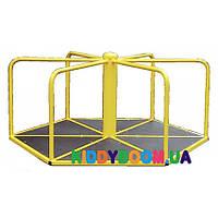 Шестиугольная детская карусель для катания стоя 608/кр, фото 1