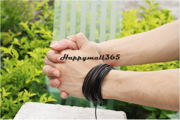 Плетеный кожаный браслет для мужчин и женщин