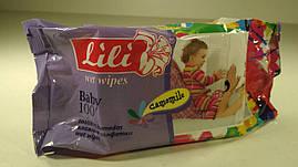"""Влажные салфетки ароматизированные,  Lili  """"Ромашка"""",  100 шт\пач"""