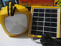 Кемпинговый фонарь GC-501A на солнечной батареи + USB порт, фото 1