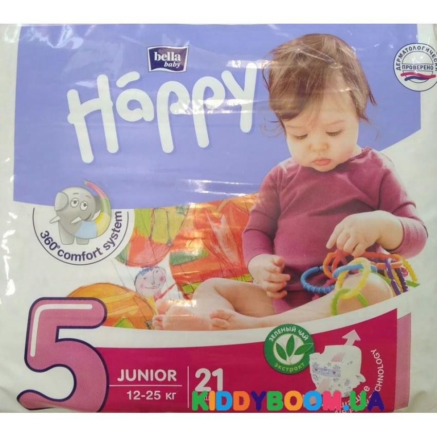 Подгузники Bella Baby Happy junior 5 Green Tea 21 шт. (12-25 кг)