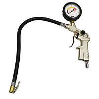 Пистолет для подкачки колес с манометром HS-B1026 HESHITOOLS