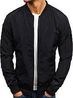 Бомбер мужской / куртка осенняя / весенняя черная