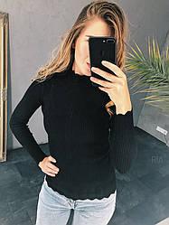 Гольфик косичка размер единый 42-46. Цвета: серый, бордо, зелёный, белый, чёрный, горчица (10025)