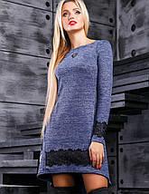 Женское асимметричное платье с гипюром по низу (2381-2383-2384-2385-2386 svt), фото 3