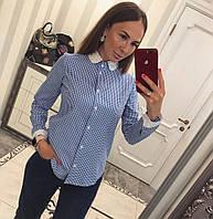 Женская стильная рубашка в клеточку ROUSE цвет Синий