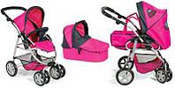 Детская коляска-трансформер для кукол зима-лето 9662-1