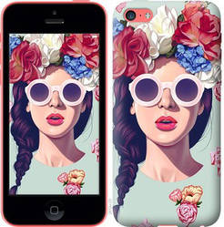 "Чехол на iPhone 5c Девушка с цветами ""2812c-23-328"""