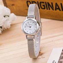 Граненые роскошные женские часы серебро