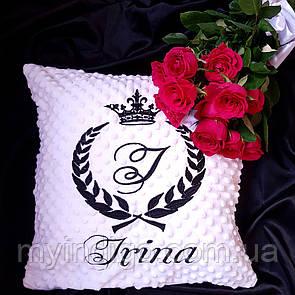 Декоративная именная подушка