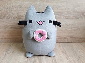 Мягкая игрушка Кот Пушин с пончиком