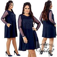 """Платье больших размеров """" Стразы """" Dress Code, фото 1"""