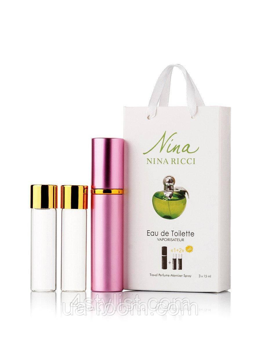 Мини-парфюм женский Nina Ricci Plain Green Apple , 3х15 мл
