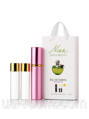 Мини-парфюм женский Nina Ricci Plain Green Apple , 3х15 мл, фото 2