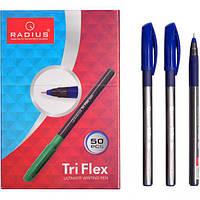 """От 50 шт. Ручка """"TriFlex"""" RADIUS тонированная 50 штук, синяя 779306 купить оптом в интернет магазине От 50 шт."""