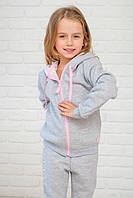 Теплый костюм с начесом для девочек р.80-128