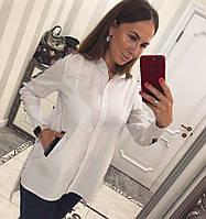 Женская стильная рубашка BELLA  цвет Белый Новинка