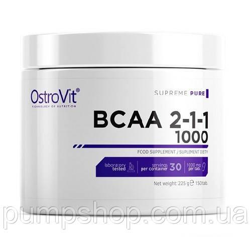 БЦАА OstroVit BCAA 1000 2:1:1 150 таб.