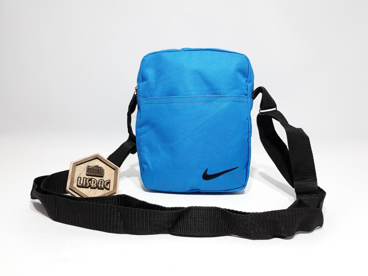 9d4db2a6d2df ... Мужская сумка планшетка/мессенджер через плечо Nike копия, голубая,  фото 4 ...