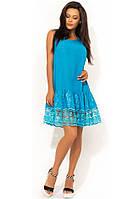 a415f7d7d72 Голубое летнее хлопковое платье с перфорацией Д-1404