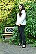 Белая базовая туника для полных женщин 68-82 размер, фото 2